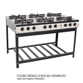 03 FOGÃO BRAVO 6 BOCAS VENÂNCIO