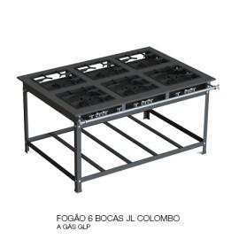 05 FOGÃO 6 BOCAS JL COLOMBO